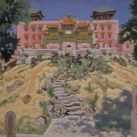 安井曾太郎,承徳の喇嘛廟,洋画,永青文庫