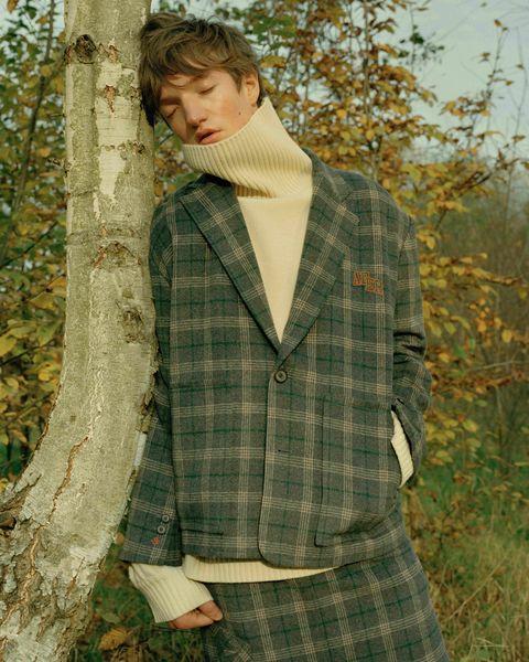 Tartan, Clothing, Plaid, Pattern, Outerwear, Tree, Design, Textile, Jacket, Photography,