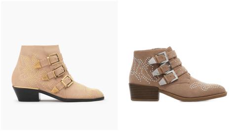 Footwear, Shoe, Beige, Boot, Brown, Tan, High heels,