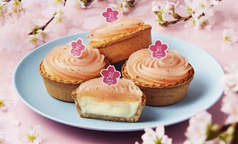 PABLO 粉嫩櫻花月,迷你櫻花麻糬起司塔和水果派對起司塔
