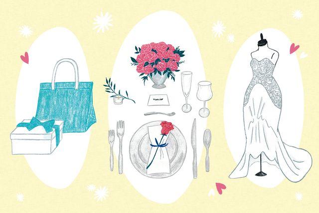 結婚式にかかる資金をイメージした結婚準備のイラスト