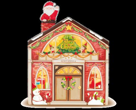 紅色的溫馨耶誕屋