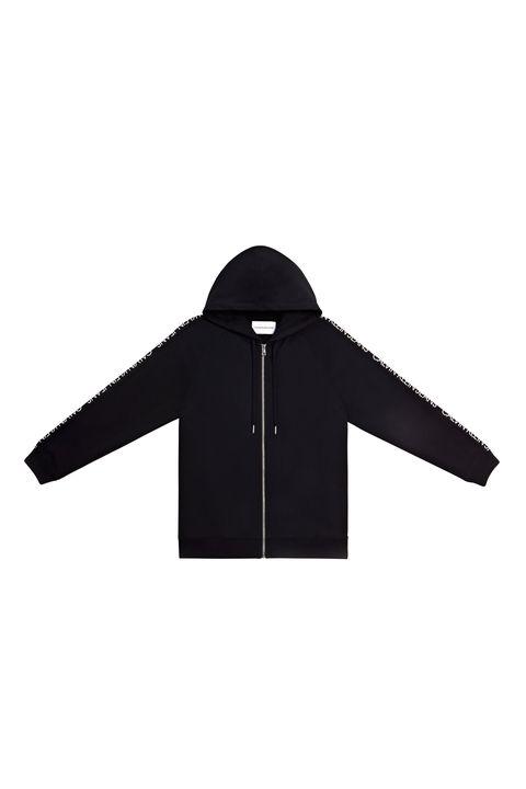 Clothing, Black, Outerwear, Jacket, Sleeve, Hood, Collar, Coat, Jersey, Zipper,