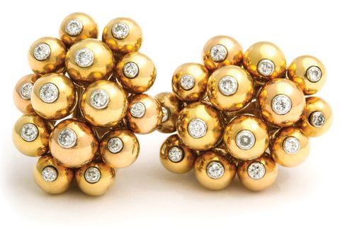 cartier cluster earrings