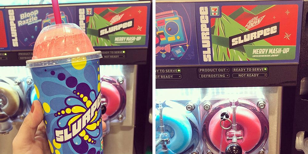 7-Eleven Turned Mountain Dew's Merry Mash-Up Into a Slurpee for the Holidays