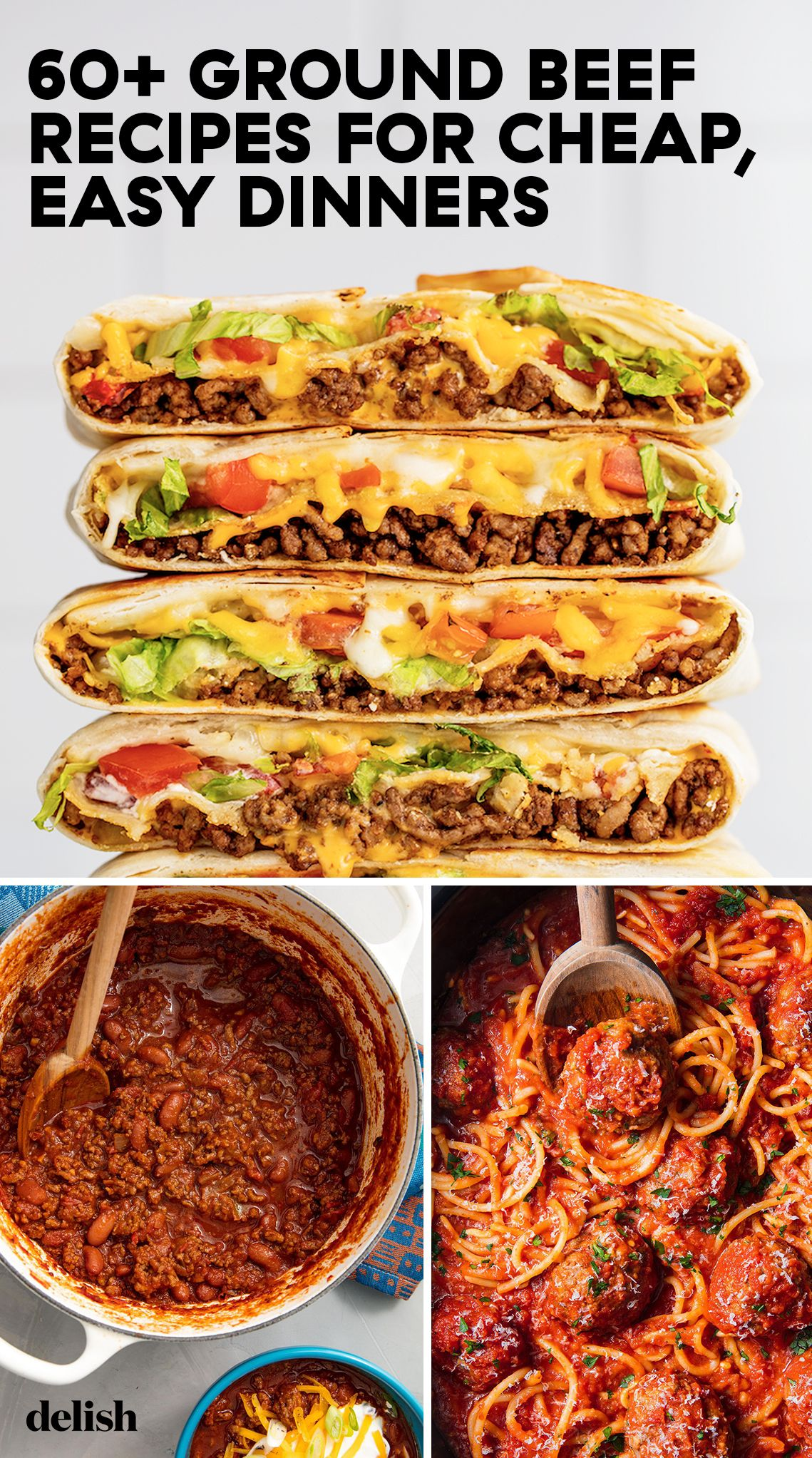 60+ easy ground beef recipes - what to make with ground beef—-delish