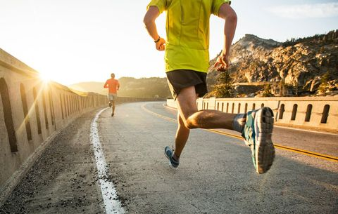 Running only builds muscle in the lower legs.