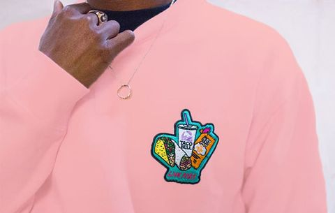 taco bell patch sweatshirt