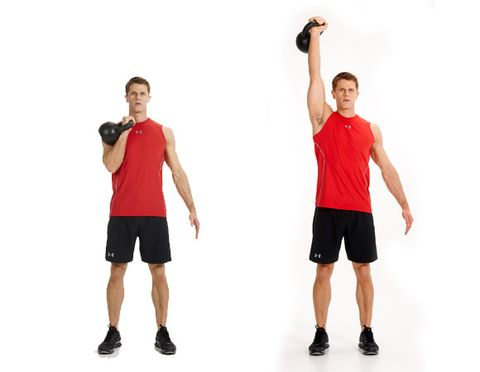 Kettlebell signle arm press