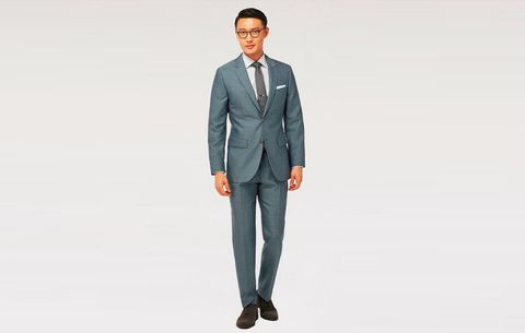 Indochino Check Silk & Linen Suit