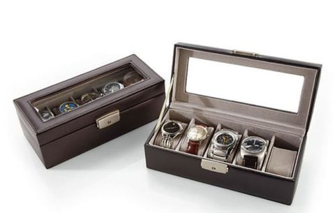 Personalized Royce 5-Slot Leather Watch Box