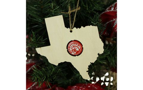 Beer Cap Map Christmas Ornament