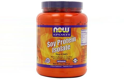 Best Soy: NOW Sports Soy Protein Isolate, Natural Chocolate