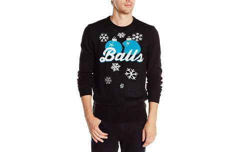 awesome ugly sweaters - Balls Christmas Sweater