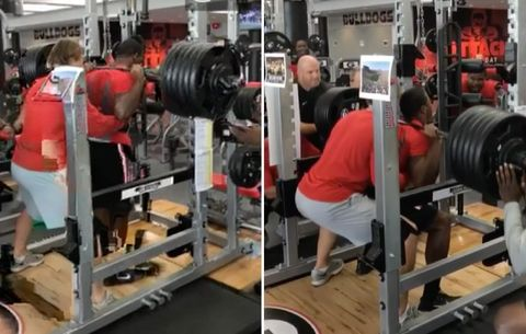Watch Georgia Running Back Nick Chubb Squat 600 Pounds
