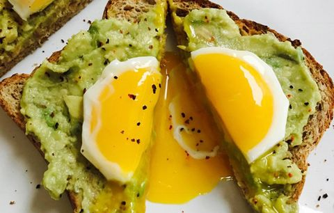 egg yolk avo toast
