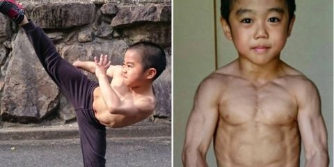 7 year old bruce lee clone