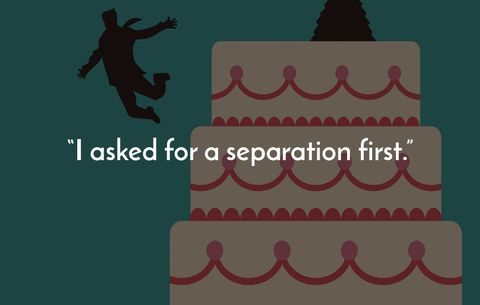 I asked for a separation first