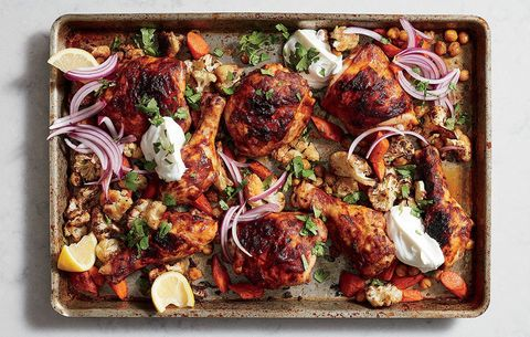 Chicken Tikka With Cauliflower and Chickpeas
