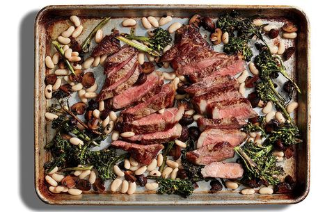 Steak with Beans and Broccolini
