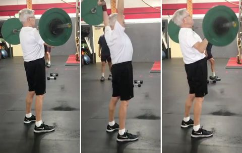 This 78-Year-Old Heart Transplant Survivor Doing CrossFit Will Motivate the Hell Out Of You