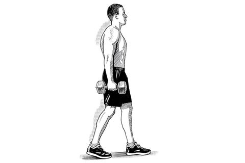 single arm carry oblique workout