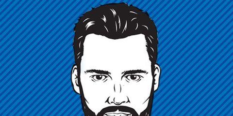 illustration of man with beard