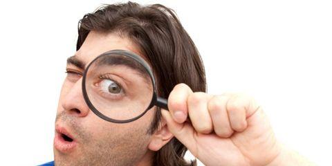 Cheek, Skin, Eyebrow, Facial hair, Organ, Close-up, Magnifier, Selfie, Moustache, Ophthalmology,