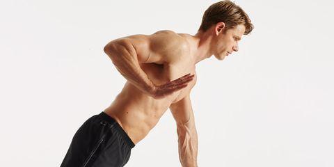 single arm pushup