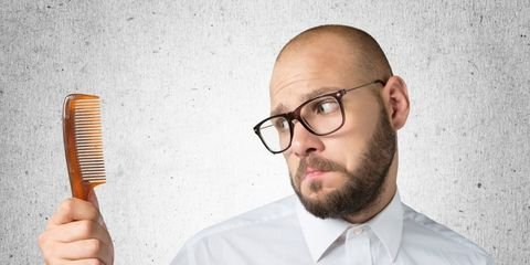 Bald guy with comb