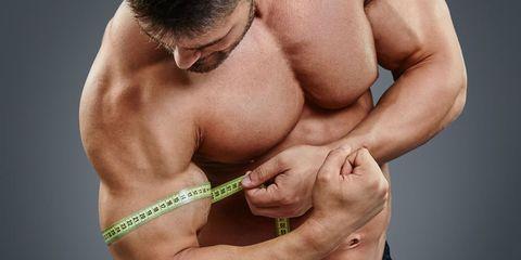 measuring biceps