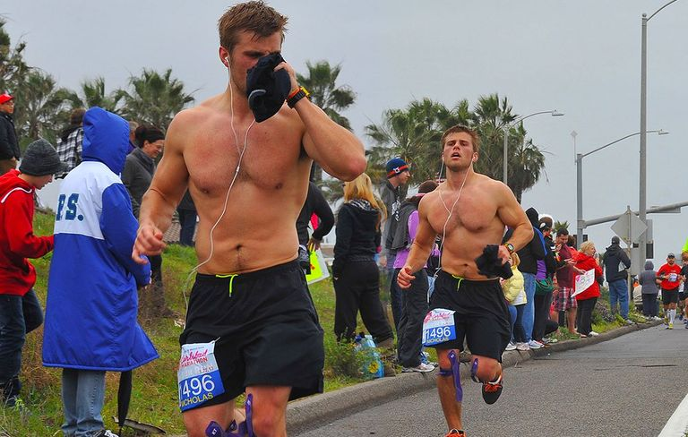 Image result for hot sweaty men running