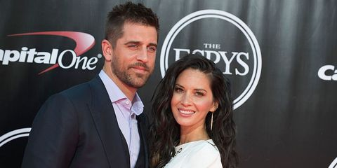 olivia munn and aaron rodgers support