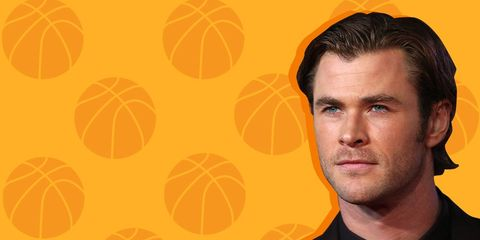 Chris hemsworth basketball shot