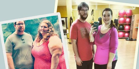 couple loses half their bodyweight