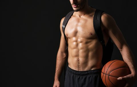 the abs workout you can do with a basketball  men's health