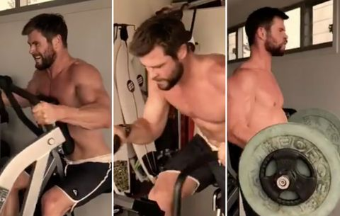 This Is What Chris Hemsworth's Insane Workout Looks Like