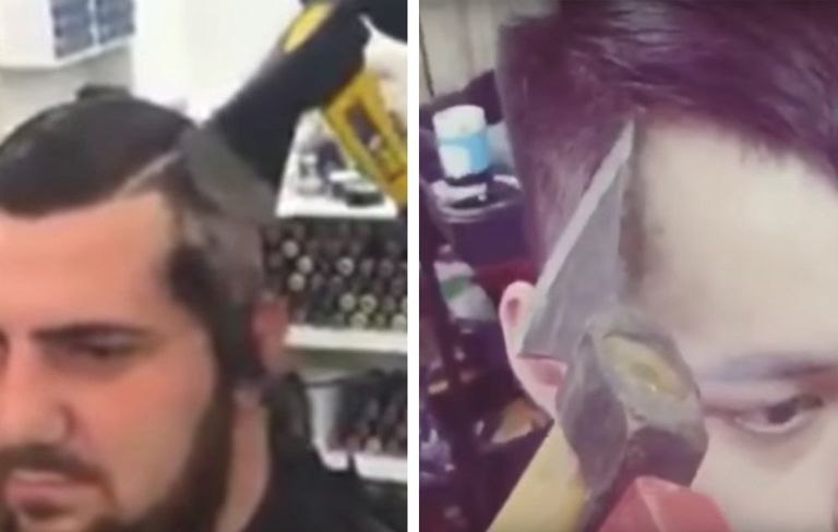 Men Now Getting Haircuts And Shaving Their Head With Axes Mens Health