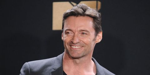 Hugh Jackman poses in the press room at the 2017 MTV Movie and TV Awards at The Shrine Auditorium on May 7, 2017 in Los Angeles, California.