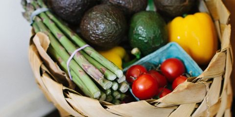 less fruits and veggies