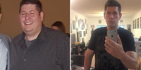 weight loss transformation before and after