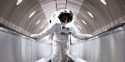 astronaut exercise in space