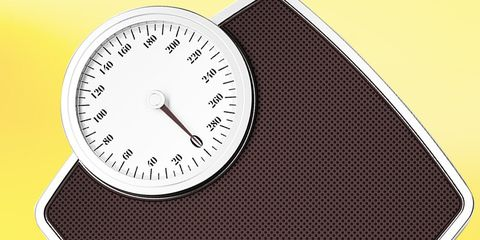 bathroom scale weighs you more