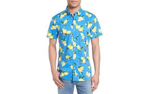 Bonobos Slim Fit ShortSleeve Lemon Print Sport Shirt