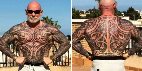 bodybuilder tattoos entire body