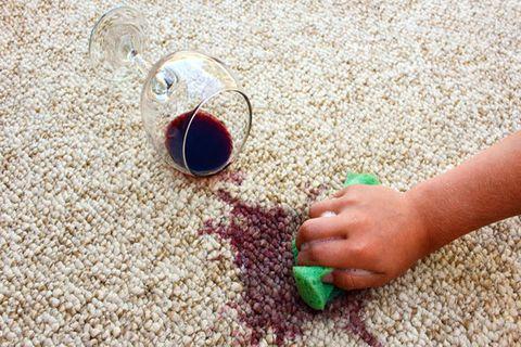 mess on carpet