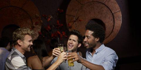 guys bond over alcohol