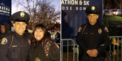 cop breaking marathon record