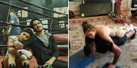 celeb couple workouts