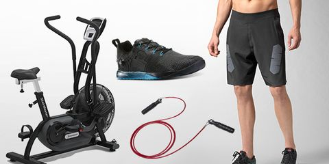 Footwear, Product, Style, Athletic shoe, Exercise machine, Black, Active shorts, Grey, Knee, Running shoe,